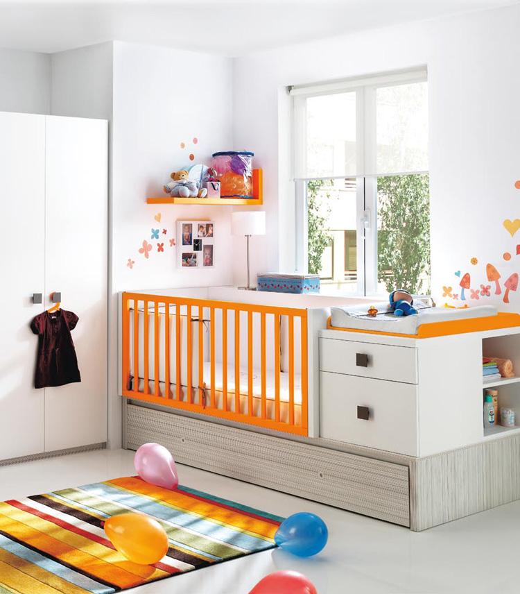 Modern ve parlak bebek odası fikirleri