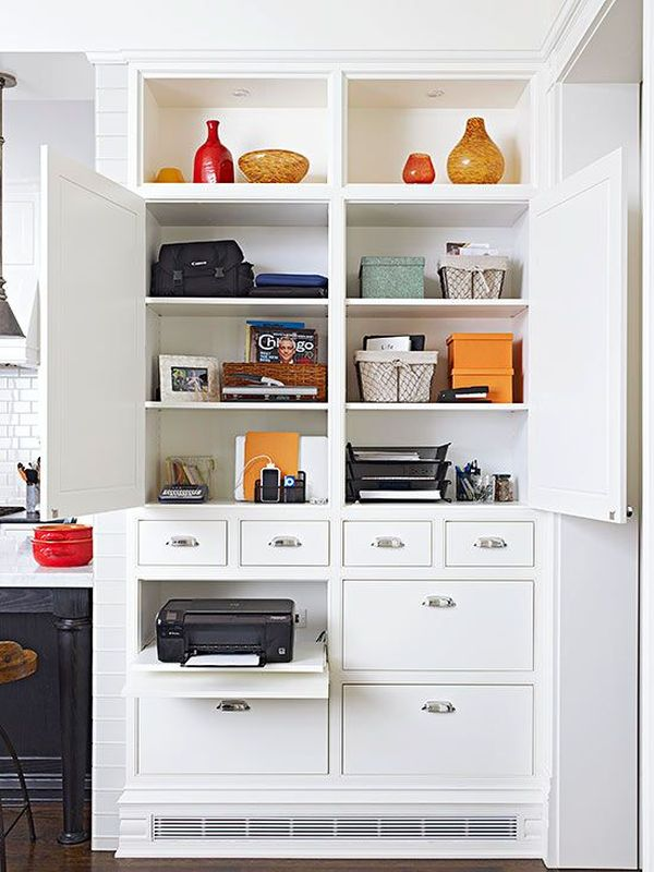 20 Ways to Design a Convenient Office in Your Kitchen