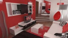 Kırmızı, Siyah ve Beyazla İlham Verici Bir Tasarım