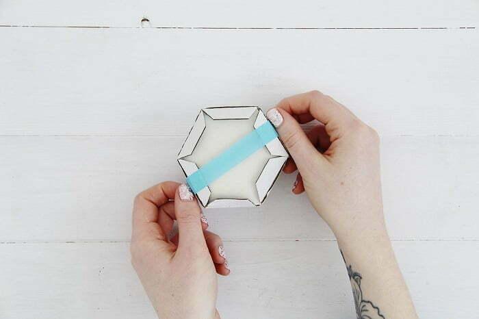 White Concrete Hexagonal Coasters