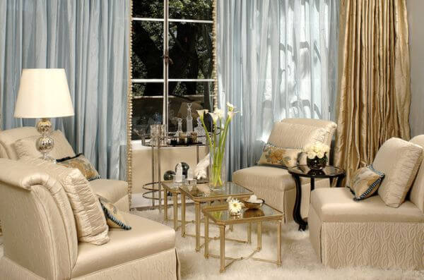 Rooms in Cream and Blue Shades: Inspirational Ideas