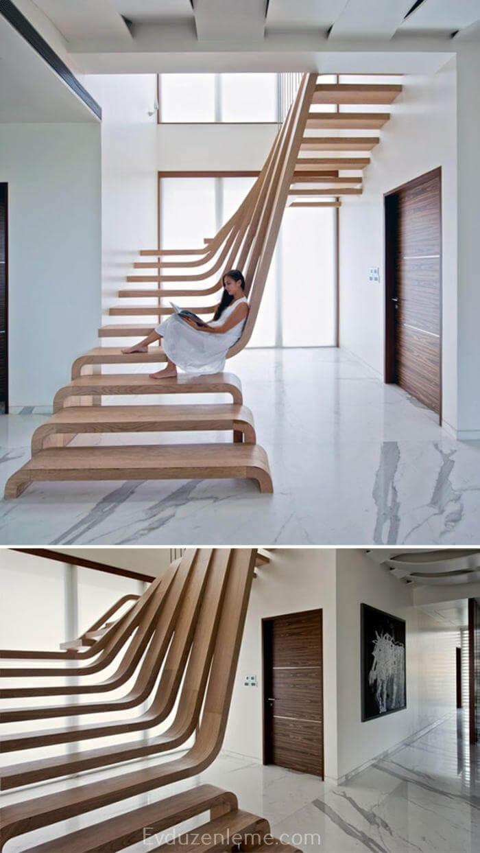 Merdiven ile Ev Dekorasyonu Fikirleri