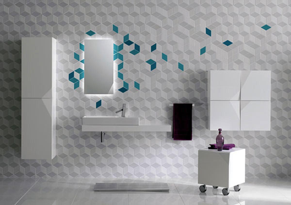 Modern mor renkli banyo dekorasyonu ev dekorasyonu dizayn - Modern Hayat Ve Kl K In Duvar Fayans Tasar Mlar