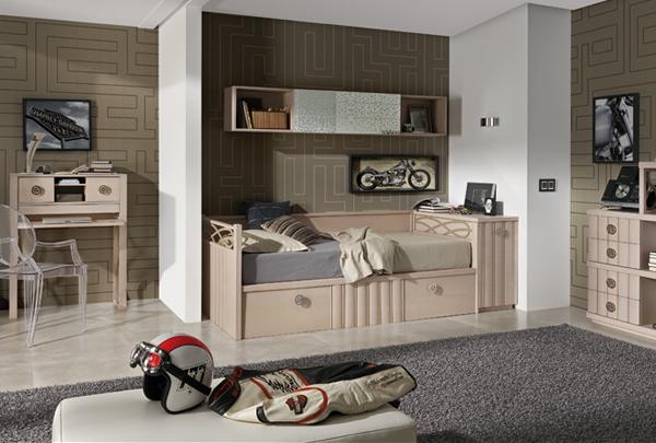 Doğal ve Şık Genç Yatak Odaları-1