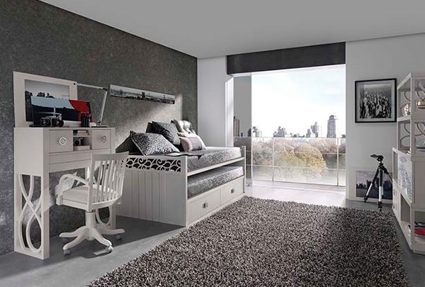 Doğal ve Şık Genç Yatak Odaları-4