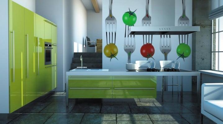 Mutfağınız İçin 17 Havalı Duvar Resmi