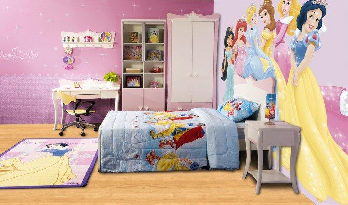 Prenses Temalı Yatak Odası Fikirler-11
