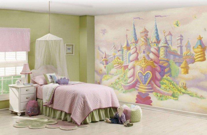 Prenses Temalı Yatak Odası Fikirler-3