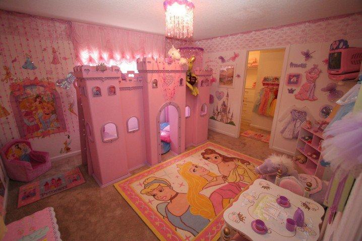 Prenses Temalı Yatak Odası Fikirler-8