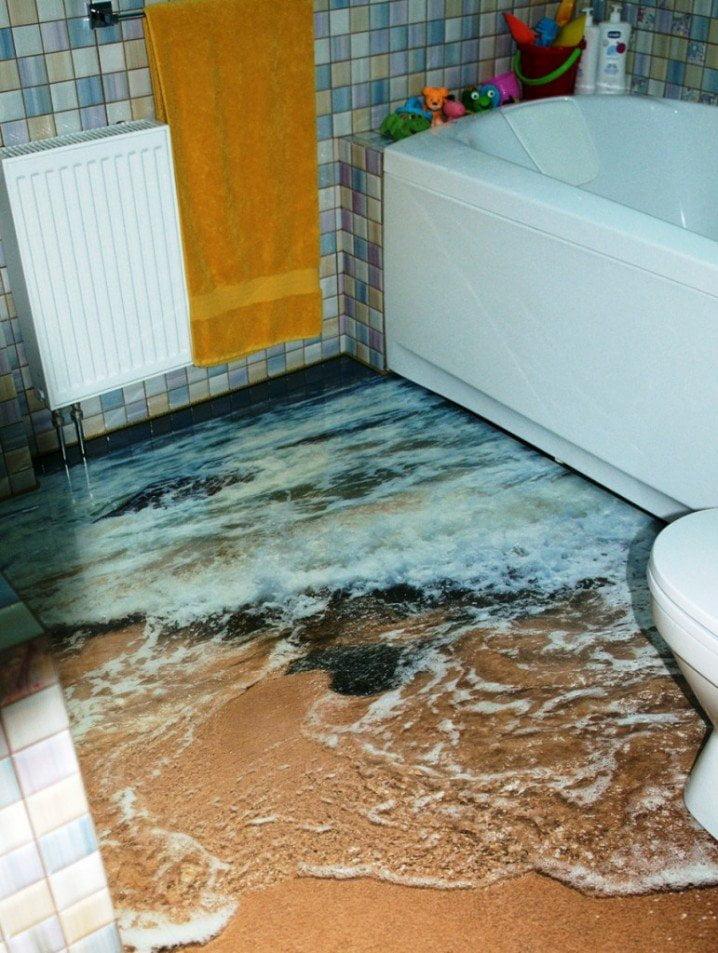 Wonderful 3D Bathroom Floor Designs