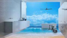 Harika 3D Banyo Zemini Tasarımları