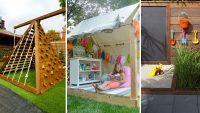 Çocuklarınızı Şaşırtacak 25 Eğlenceli Kendin-Yap Arka Bahçe Projesi