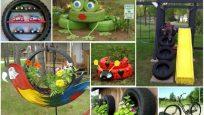 Eski Araba Lastiklerini Ev ve Bahçe İçin Yeniden Değerlendirme