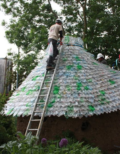 Как сделать крышу из пластиков бутылки