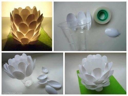Plastik kaşık DIY projeler-3