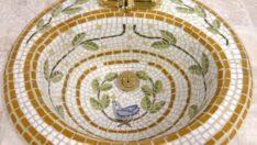 Banyonuzdaki Şıklık İçin Mozaik Lavabo Tasarımları