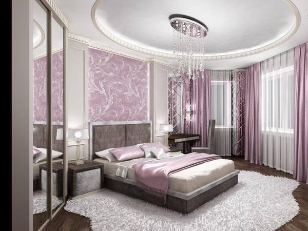 Mor yatak odası iç tasarım fikirleri-3