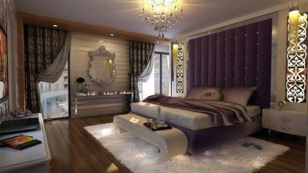 Mor yatak odası iç tasarım fikirleri-4