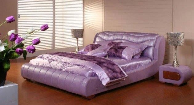 Mor yatak odası iç tasarım fikirleri-6