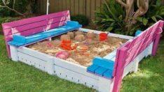 Çocuklar için Paletler ile Yapabileceğiniz Oyun Mobilyaları