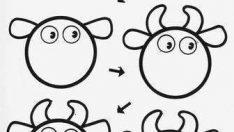 Çocuklar İçin Dairesel Şekillerden Hayvan Resimleri Çizme