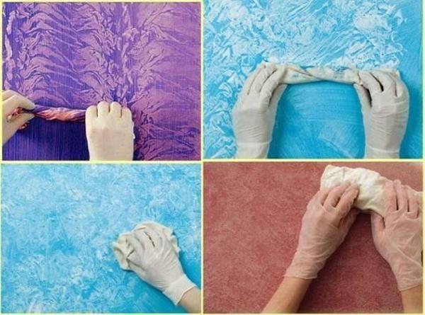 Оригинальная покраска стен своими руками