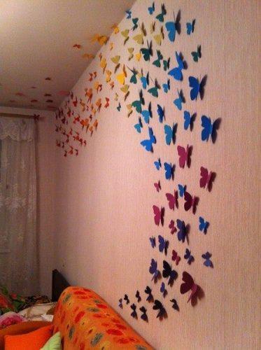 3d бабочки на стену своими руками 494