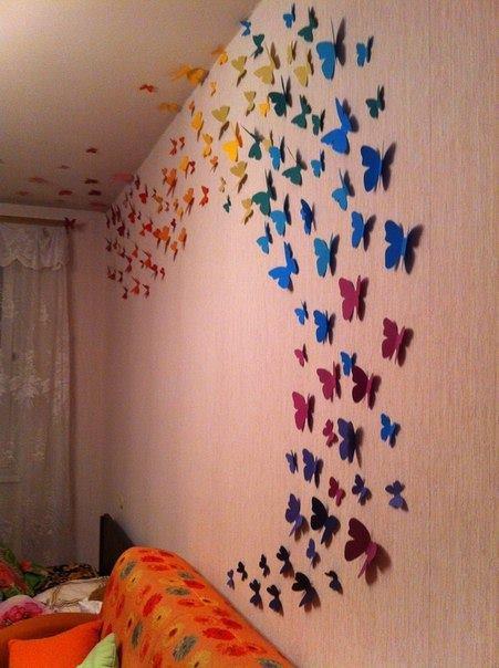 Украшения на стену бабочки