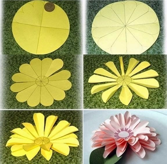 Цветы бумажные поделки 50