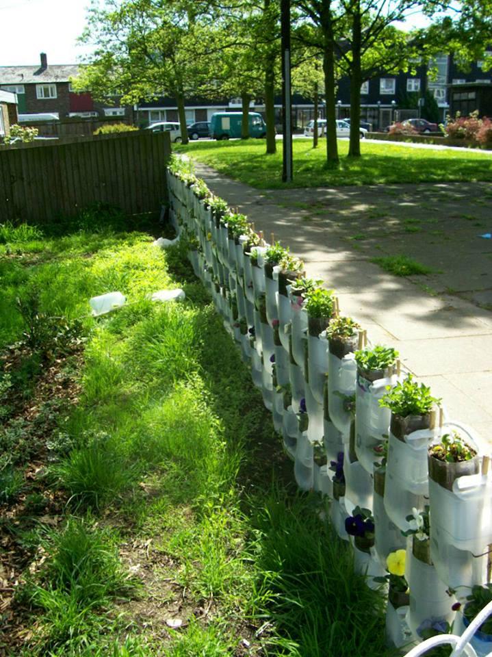 Yarat c bah e fikirleri ev d zenleme for Cosas recicladas para el jardin
