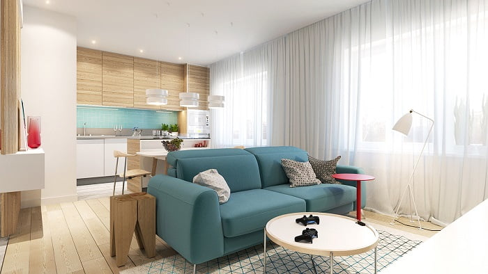 Colorful Modern Apartment Decoration