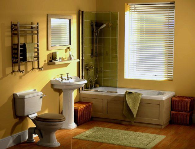 Sarı ve Yeşil Banyo Modeli