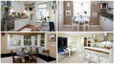 17 Şirin Küçük ve Fonksiyonel Yemek Masaları İle Yemek Odaları