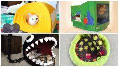 19 Mükemmel Havalı ve Rahat Kedi Yatakları