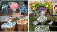 21 Mükemmel İlham Almanız Gereken Kendin Yap Mozaik Bahçe Tasarımları