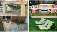 17 Süper Kendin Yap Projesi ile Evinizin Arka Bahçesini Çocuklarınız İçin Daha Eğlenceli Hale Getiren Fikirler