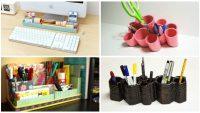 19 Tane Çalışma Masanızı Daha Kullanışlı Bir Hale Getirecek Olan Muhteşem Fikirler