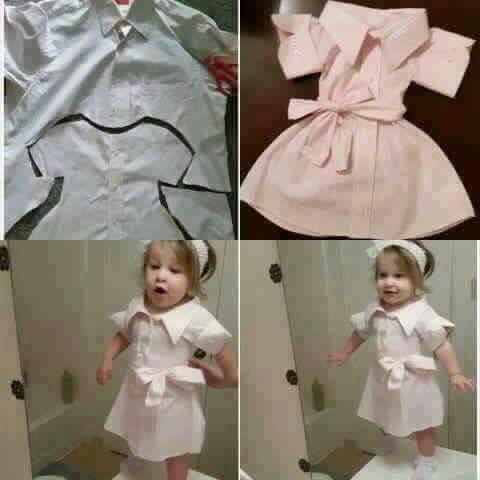 Kullanılmayan Gömleklerden Çocuk Kıyafetleri Yapmanın Yolları