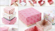 Renkli Kartonlardan Muhteşem Hediye Kutuları Yapımı