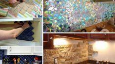 24 Adet Kendin Yap Mutfak Tezgahı Arkası Fikirleri ve Rehberleri