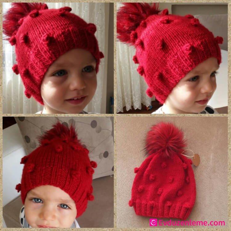 Kız Bebek Örgü Bere Modelleri