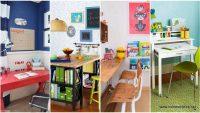 Çocuklarınız için 24 Güzel Çalışma Masası Modelleri