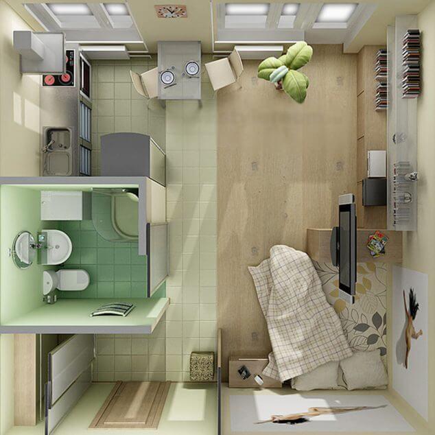 ev-tasarimlari-icin-15-studyo-cati-kati-dairesi-zemin-planlari-3