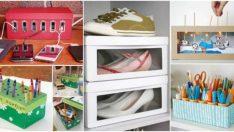 Ayakkabı kutularını başka şekilde kullanmanın 15 yaratıcı yolu