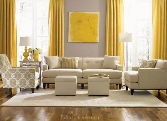 16 ways to make your living room impressive with gray and yellow