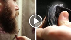 Sakallarınızı keserken artık lavaboya dökülmeyecek