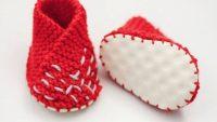 Sıcak Örgü Bebek Ayakkabı Yapımı