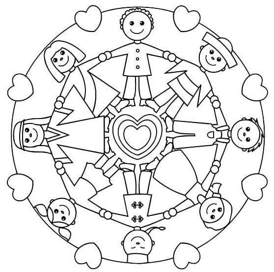 Mandala örnekleri Okul öncesi