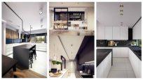 Siyah ve Beyazın Uyumu ile Dekore Edilmiş Mutfak Modelleri
