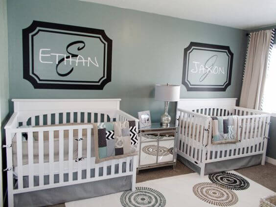 Twin Baby Rooms with the Best Decoration Samples